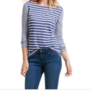 Vineyard Vines Long Sleeve Party Stripe Slub Tee